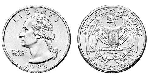 Quarter Dollar Clipart.