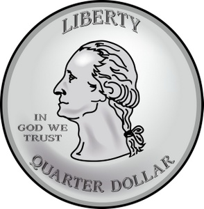 Quarter Dollar Clipart.