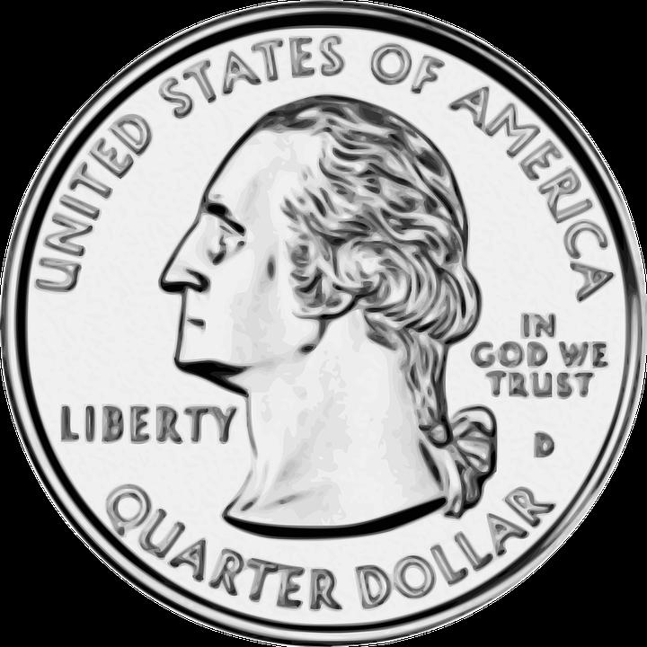 Clipart Of A Quarter.