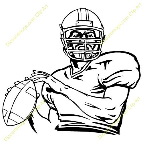 Quarterback Clipart.