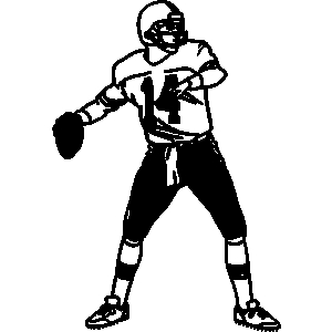 Football quarterback clipart.