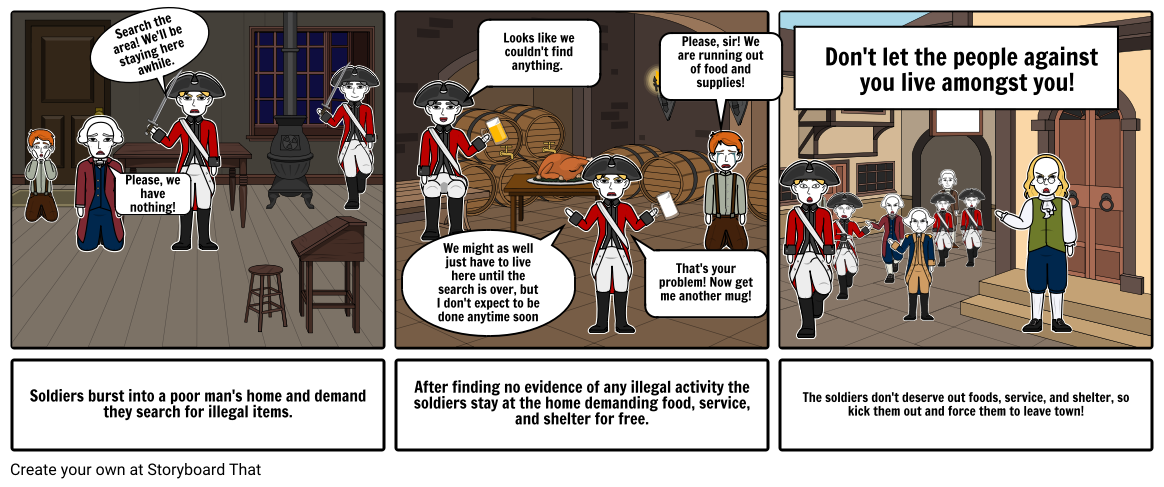 The Quartering Act Propaganda Storyboard by fd0115d5.