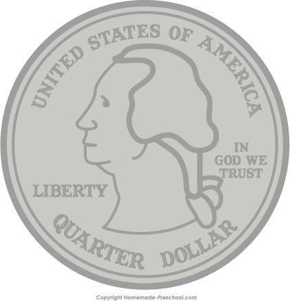 Quarter Coin Clipart image tips.