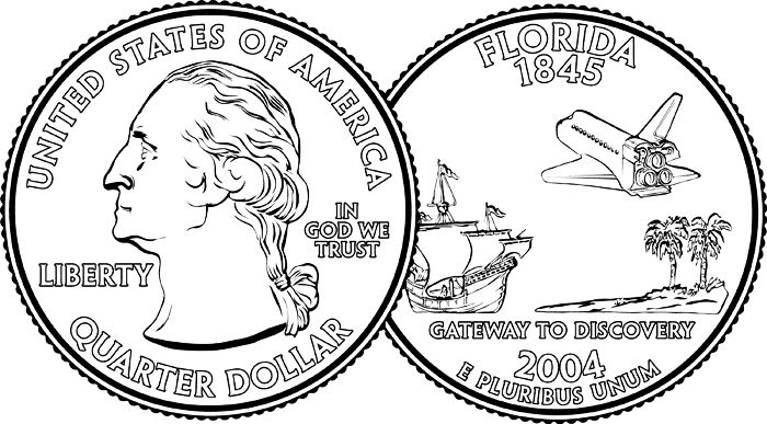 Quarter Coin Clipart Black And White Quarter clipart.