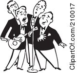 Men Singing Clipart.