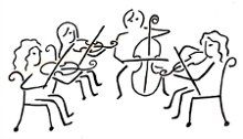 String Quartet Clipart.