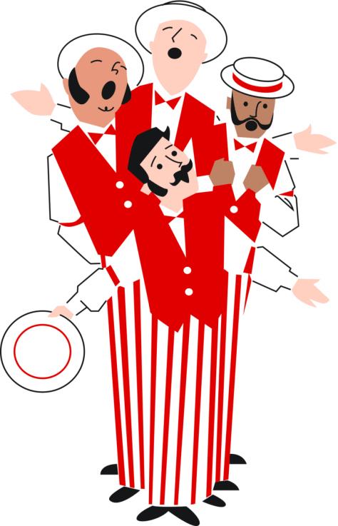 Barbershop quartet clip art.