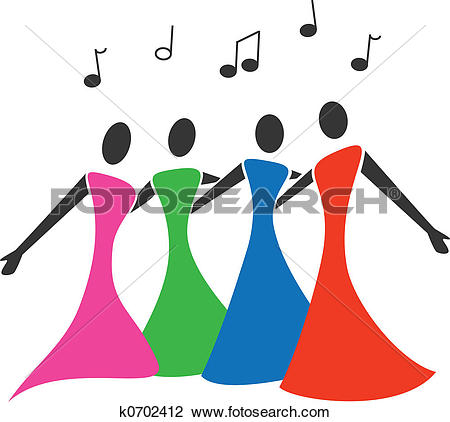 Clip Art of Quartet k0702412.