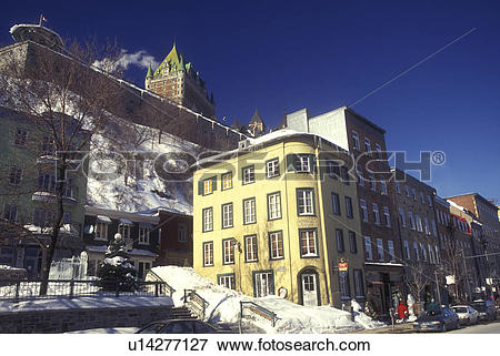 Picture of Canada, Quebec, Chateau Frontenac and Quartier Petit.