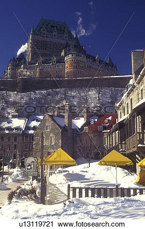 Stock Photography of Canada, Quebec, Chateau Frontenac and.