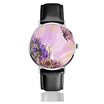 Amazon.com: Womens Watch Purple Flower Clipart Butterfly.