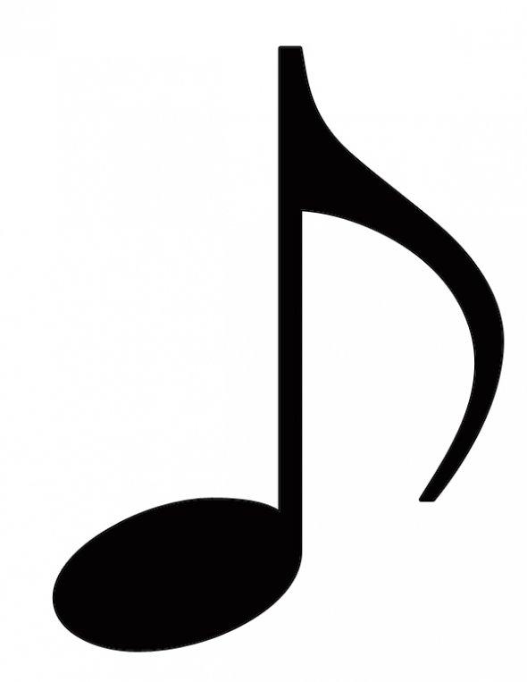Music Notes Single Quaver.
