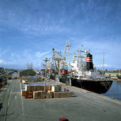 Stock Images of sky, ship, quay, harbor, port, water.
