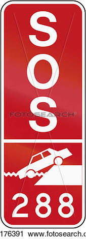 Clipart of Quayside Emergency Number in Canada k30176391.