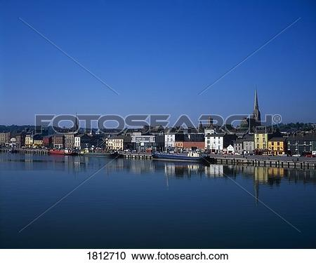 Stock Photography of The Quays, Wexford Town, Co Wexford, Ireland.