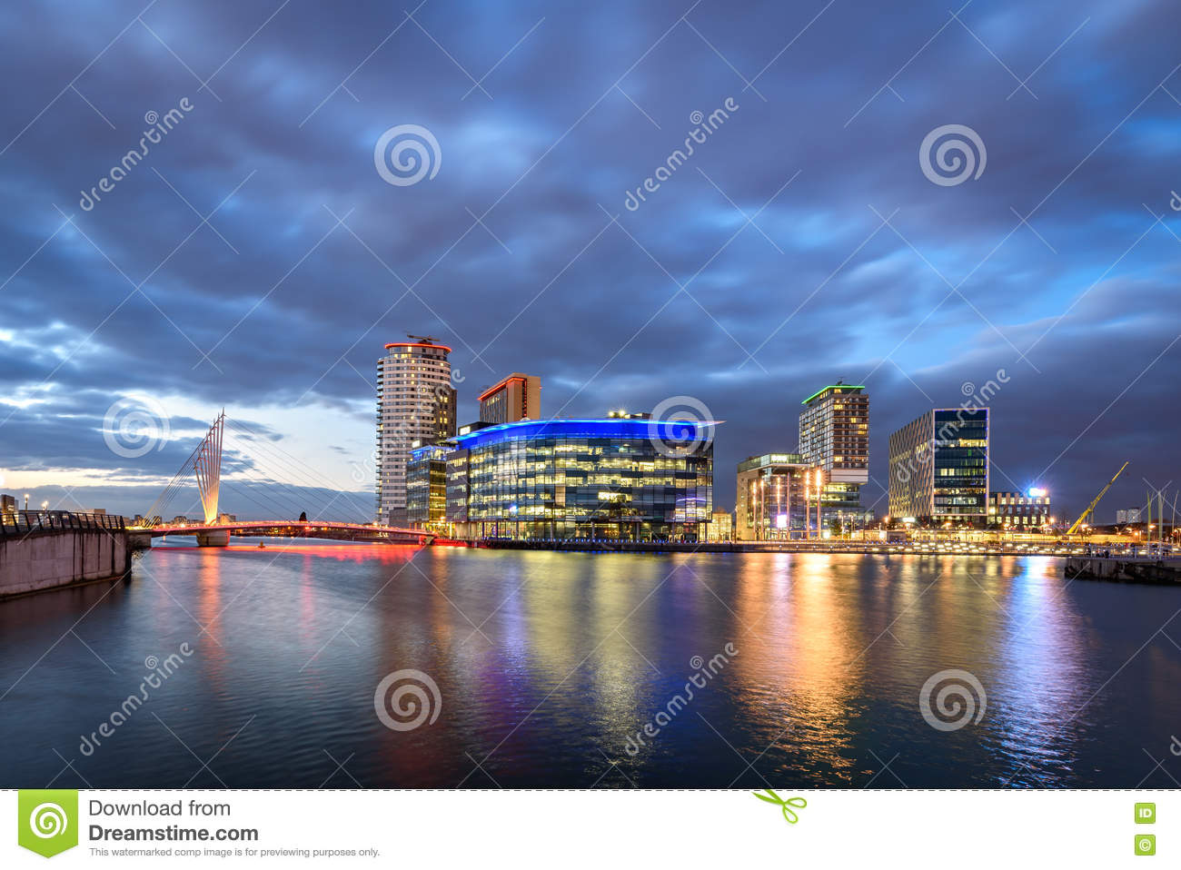 Salford Quays Manchester,England UK Stock Photo.