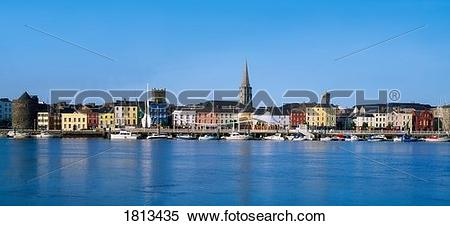 Stock Image of The Quays, Waterford City, Co Waterford, Ireland.
