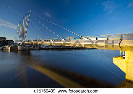 Stock Photograph of England, Greater Manchester, Salford Quays.