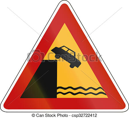 Clipart of South Korea road sign.