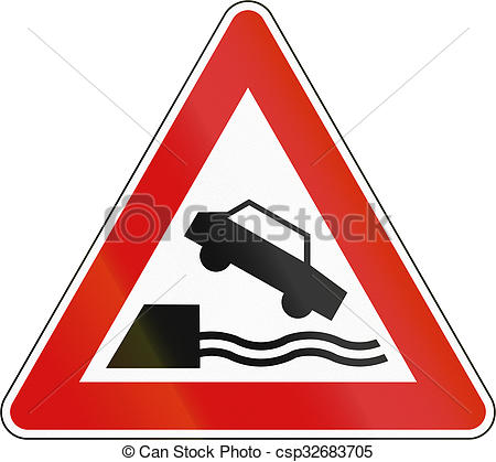 Stock Illustration of Slovenia road sign.