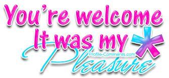 You are welcome, que significa seg n el contexto?.