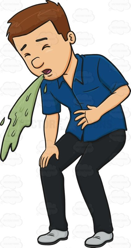 Man In A Blue Shirt Vomiting #adult #adultmale #barf #besick.