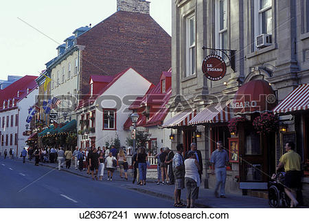 Stock Photography of Quebec City, Canada, Quebec, Restaurants and.