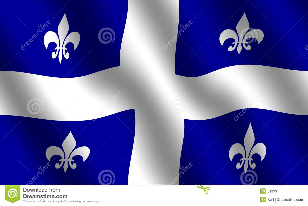 Flag Of Quebec Stock Photos.