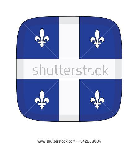 Raster Version Flag Quebec Province Canada Stock Illustration.
