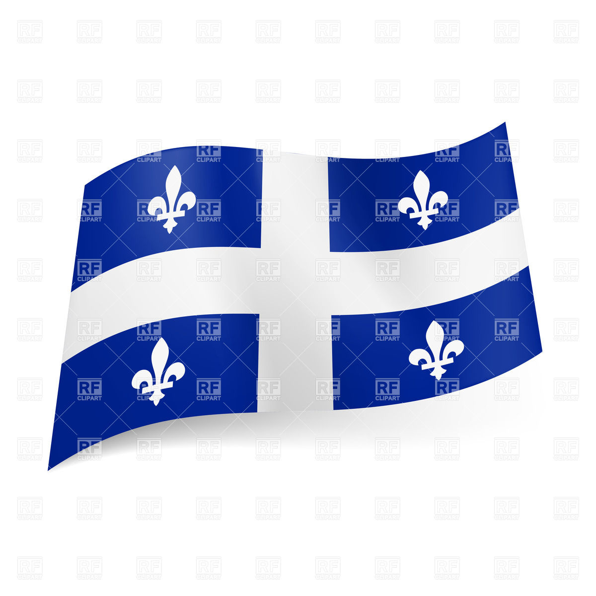 Flag of Quebec, province of Canada Vector Image #31042.