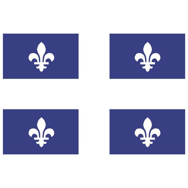 QUEBEC VECTOR FLAG.