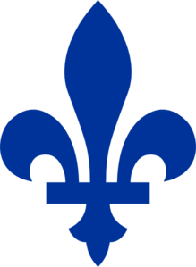 Blue Fleur De Lis In The Style Of The Flag Of Quebec Clip Art at.