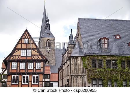 Stock Images of Quedlinburg, Germany csp8280955.