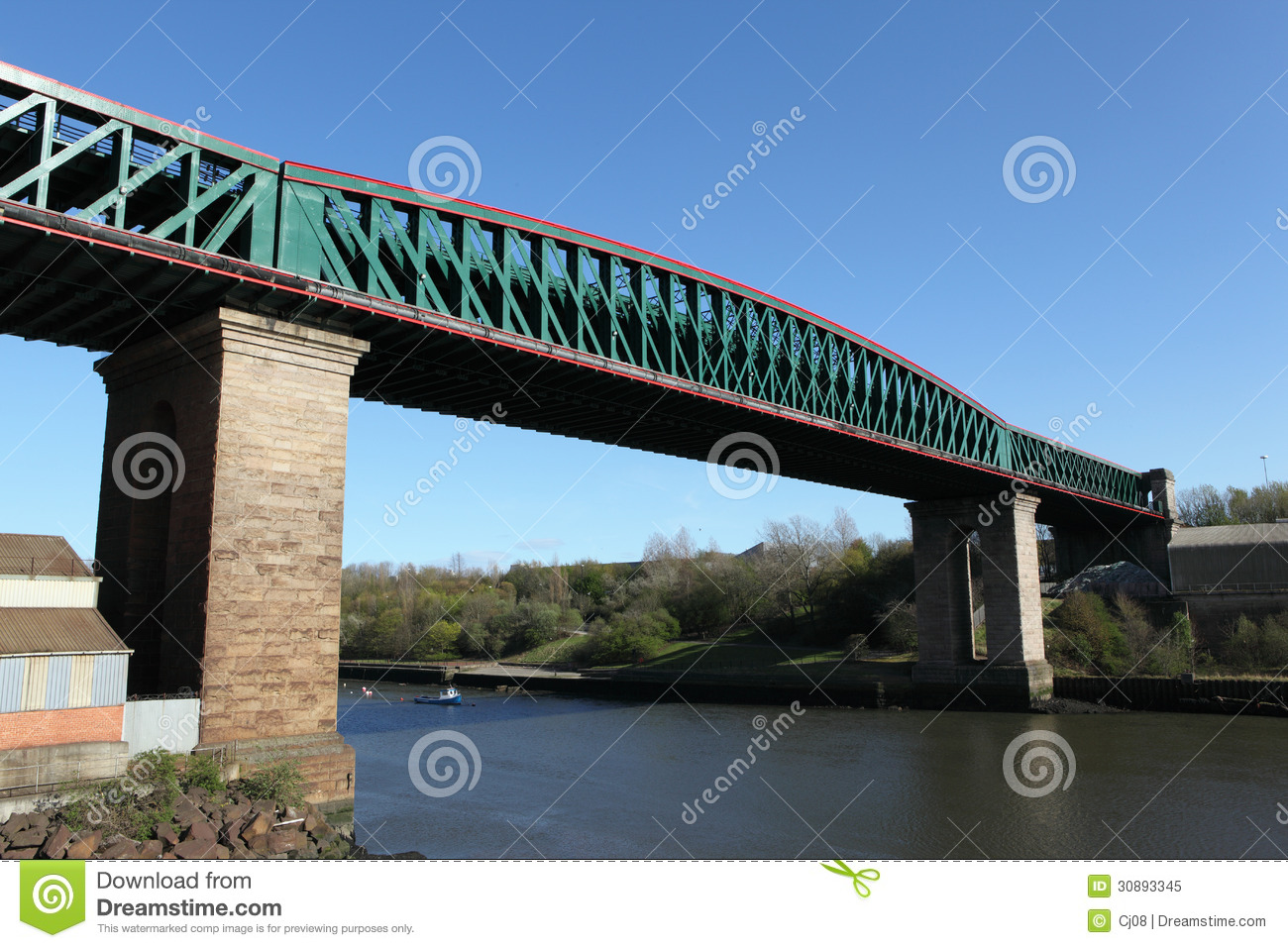 Queen Alexandra Bridge, Sunderland Royalty Free Stock Photo.