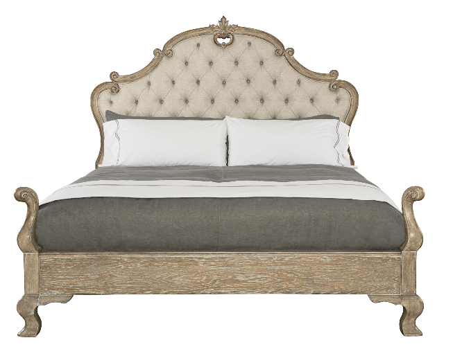 Campania Upholstered Panel Queen Bed.