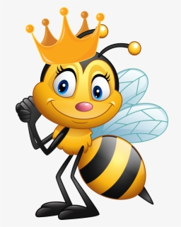 Free Queen Bee Clip Art with No Background.