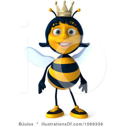 Queen Bee Clipart Black And White.