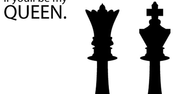 Chess pieces in vector silhouette including king queen rook pawn.