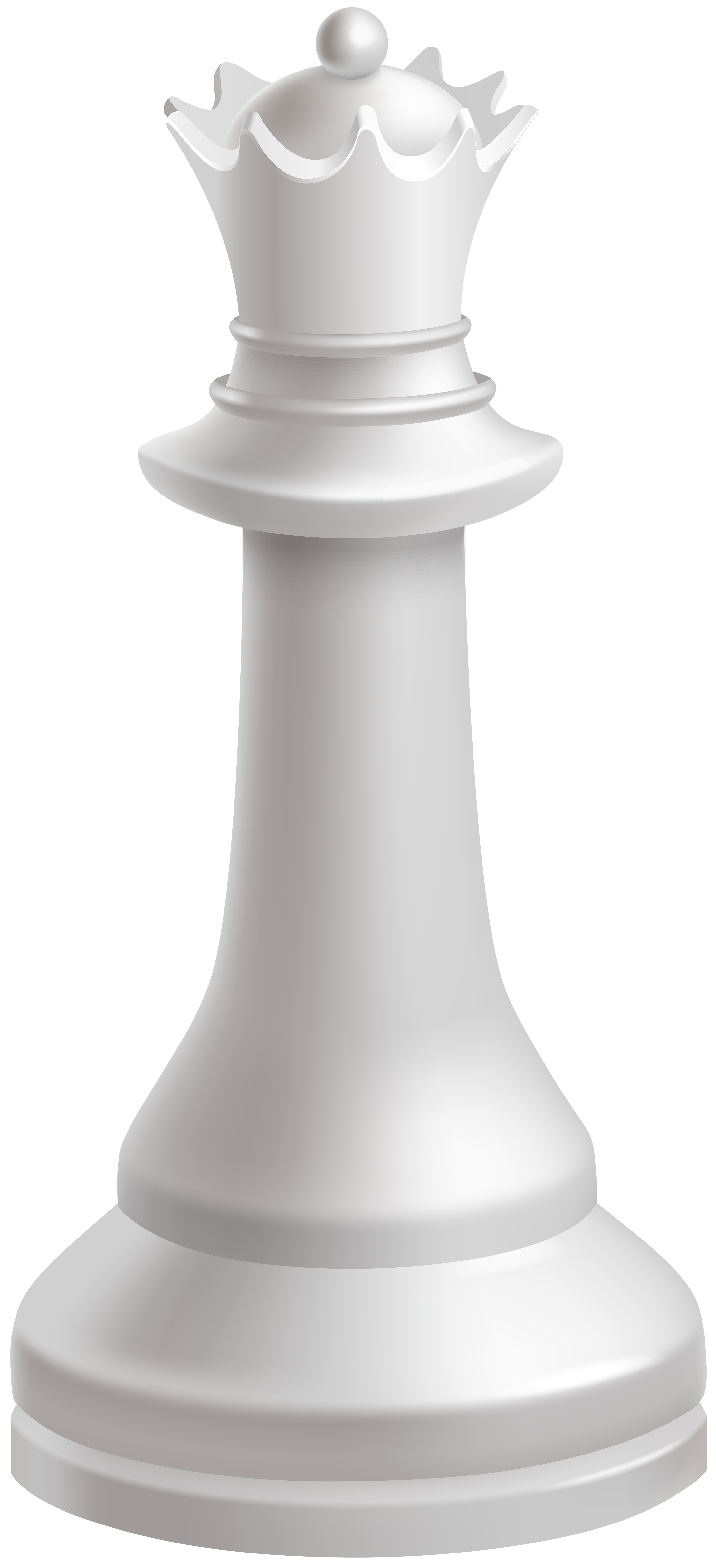 Queen White Chess Piece PNG Clip Art.