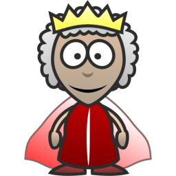 Happy Queen Icon, PNG ClipArt Image.