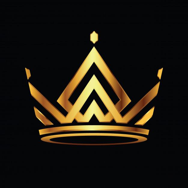 Modern crown logo royal king queen abstract logo vector.