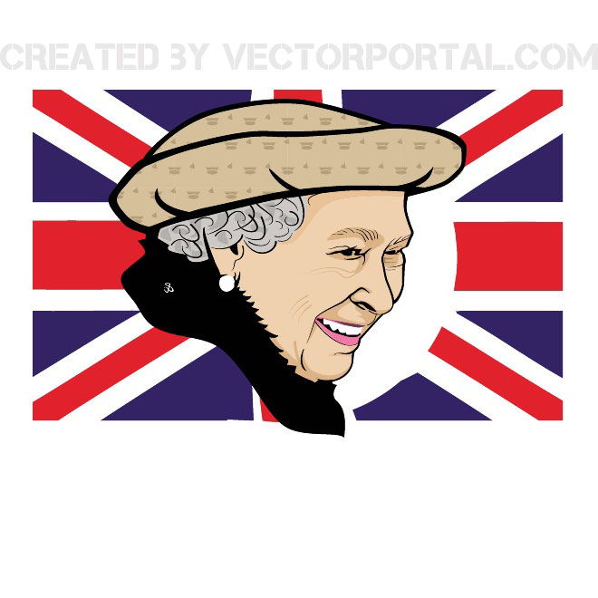 QUEEN ELIZABETH 60TH ANNIVERSARY VECTOR.