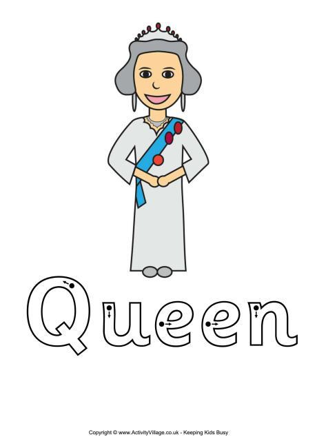 Queen Elizabeth II Printables for Kids.