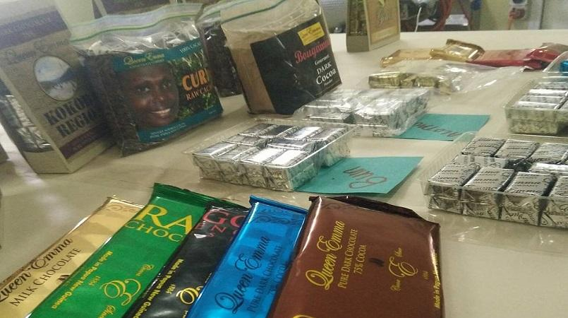 PNG chocolates and spices at Auckland Food Show.