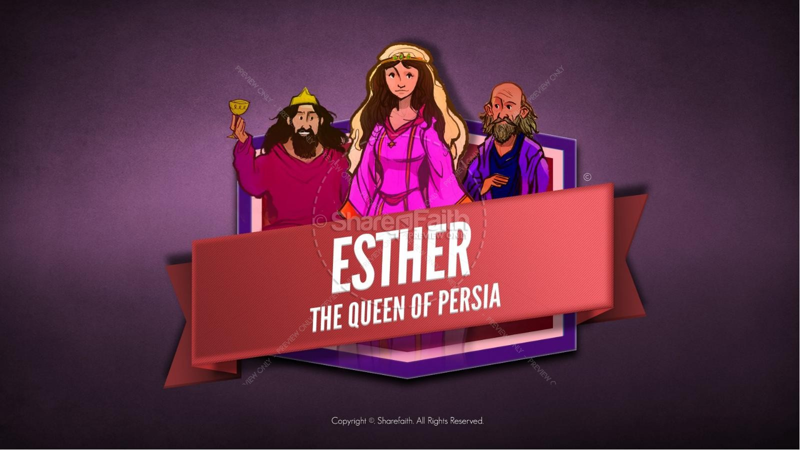 Queen Esther Bible Video For Kids.