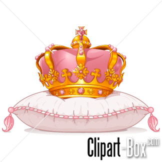 CLIPART QUEEN'S CROWN ON PILLOW.