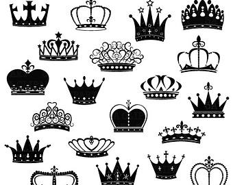 Crown Clipart SVG, king crown svg, queen crown svg, princess crown.