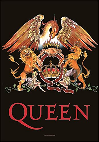 Queen Crest large fabric poster / flag 1100mm x 750mm (hr).