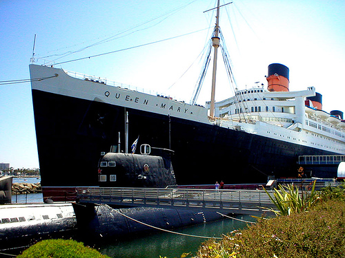 On the Queen Mary.