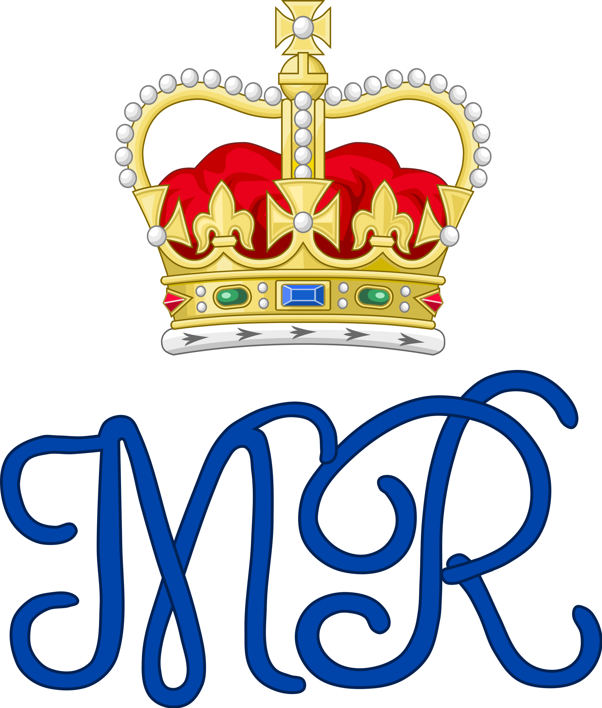 File:Royal Monogram of Queen Mary II of Great Britain, Variant 2.